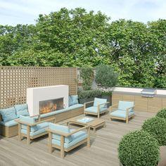 Visuals für ein Stadthaus in London - 39 Wilton Crescent - Dachterrasse