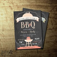 co-ed BBQ baby shower invitation, boys or girls baby shower barbeque, High quality digital printable file