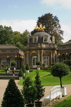 The beautiful Sun Temple in the New Castle Eremitage - Bayreuth - Bavaria - Germany
