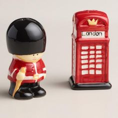 One of my favorite discoveries at WorldMarket.com: Guard and Phone Booth Salt and Pepper Shaker Set