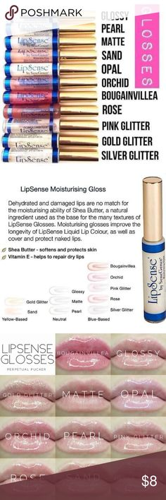 LipSense Mini Gloss Samples Mini LipSense gloss samples are a great way to change up the look of your favorite LipSense color! If you don't want to commit to a whole tube, this is the perfect way to try one out.  Each sample is taken from a sterile, never used, original tube and comes in a 1.2 mL clear mini lip gloss tube with wand included!  To order, please comment on one of my listings with which color(s) you'd like.  I'll then make a listing specifically for you, which you can purchase…