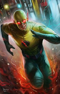 "Flash's wrong copy called Professor Zoom, the killer his parents, his father and his mother, his goal kill Flash. Professor Zoom : ""I'mma gonna make you crazy Flash ! Flash Comics, Arte Dc Comics, Zoom Dc Comics, Reverse Flash, Flash Art, The Flash, Dc Speedsters, Anti Flash, Flash Characters"