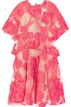 Biyan. Aura besticktes Kleid aus Organza.