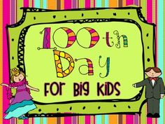 Big kids can have fun too! Allow your 3rd-5th grade students join in on the 100th Day of School celebrations. This mini book includes 12 fun activities that are all centered around the number 100 and are appropriate for third-fifth graders. This is available in a color and black and white version. $