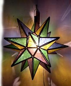 moravian star lantern.  would look nice in clear/frosted glass.
