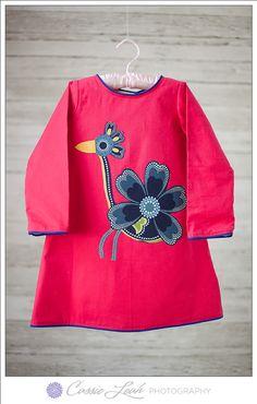 Toddler Fall Dress - Peacock #shadeskids www.shadeskids.com