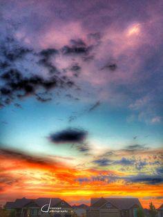 Sunset over Eagle Ridge