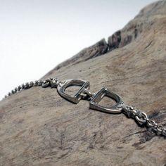 Silver Stirrup Bracelet – Unio Goldsmith Chunky Silver Rings, Equestrian Jewelry, Silver Jewellery, Take That, Pearls, Chain, Diamond, Pendant, Bracelets