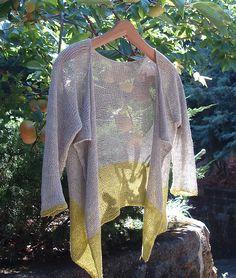 Ravelry: Color Block Cardigan pattern by Chiaki Hayashi - knit with Shibui Pebble yarn, available at www.agoodyarnsarasota.com.