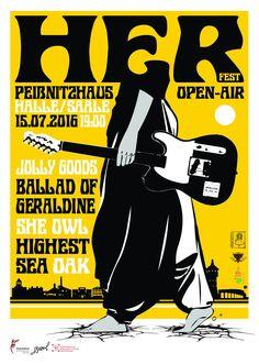 Plakat für das HERfest