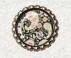 -f056c- Kronkorken Magnet,  PAISLEY 3, € 2,80 , bottlecap von Mondcatze´s Zauberwerkstatt auf http://de.dawanda.com/shop/Mondcatze