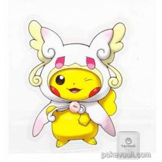 Pokemon Center 2015 Poncho Pikachu Series #1 Mega Audino Large Sticker