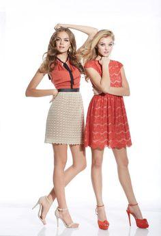 Kensie brilliant red dress