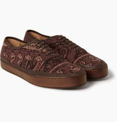Weaving Up A Good Fall: Paul Smith Jim Rug Tapestry #Sneakers ~ #SHOEOGRAPHY #Tapestry #mensshoes