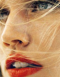 A quick no-makeup fix? A bold red lip. Kisses!