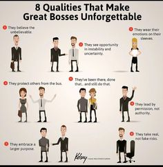 8 Qualities of Great Bosses #leadership