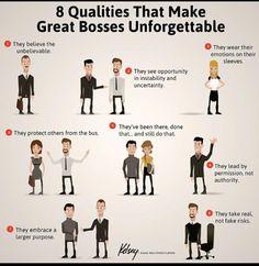 8 Qualities of Great Bosses #leadership