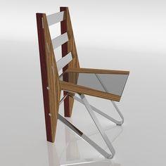 Diciembre 2016. Silla DANZA 90 PZ. Diseño de Ernesto Oñate. Acero, cristal y madera maciza de Palo Rojo y Zebrano.