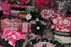 Hot Pink and Zebra candy bar. This was my first one....big FUN!!