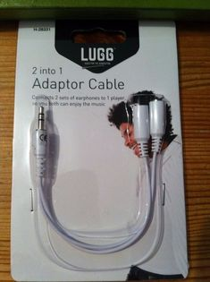 2 into 1 Headphone Adapter Cable - Connect 2 sets of earphones to 1 player. BNIB