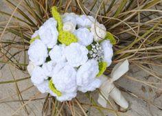 Ramo flores de novia en crochet paso a paso - Patrones Crochet