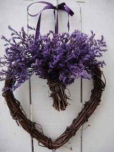 Valentine Wreath by donnahubbard on Etsy, $25.00 Love purple!