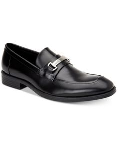 f646ccb2f2f Calvin Klein Men s Craig Box Leather Loafers - Black 11.5 Leather Loafers
