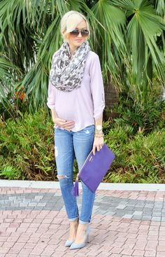 GiGi New York | A Spoonful of Style Fashion Blog | Purple Uber Clutch