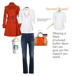 Inverted Beauty: Find Fall Styles That Flatter Your Figure! by typology on Polyvore featuring Steffen Schraut, Sealup, Citizens of Humanity, Michael Kors, #fallfashion #invertedtriangle
