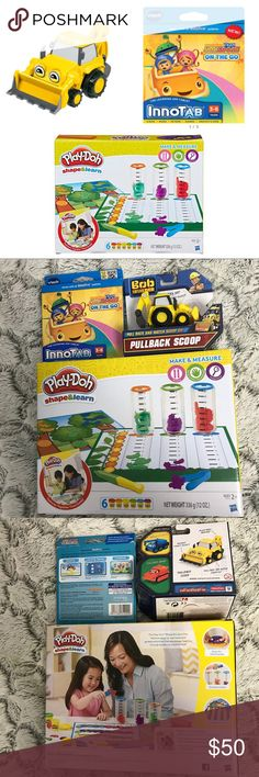 💫NIB Kids Sale🍂Fall Boys Mix/Match 3Piece Set🐶 New Boys Mix And Match 3Piece Set includes: 1 Bob the builder pullback scoop, 1 Vtech InnoTab Team Umizoomi on the go and 1 Play-Doh Shape and Learn Make &Measure Box.  All brand new in Box.  Priced to sell... do not low ball. Hasbro Accessories
