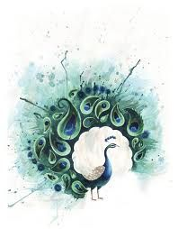 Tattoos are all about catching the eye of people around you. Peacock tattoos are just perfect for that. Here are some popular peacock tattoo designs till date. Watercolor Peacock Tattoo, Peacock Painting, Peacock Canvas, Peacock Artwork, Painting Art, Watercolor Paper, Peacock Drawing, Peacock Images, Painting Tattoo