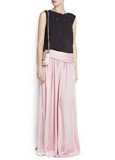 MANGO - CLOTHING - Skirts - Sash long skirt