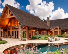 Exterior Log Homes Design.  I love this!