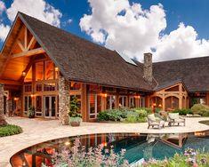 Exterior Log Homes Design. I love this!