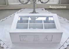 Nostalgieschmiede - Teebox Holzbox  www.nostalgieschmiede.de