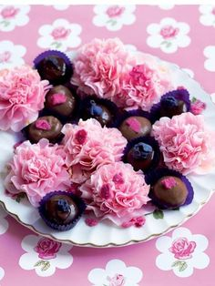 Violet & Rose Creams dipped in Chocolate