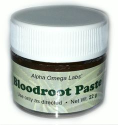 Bloodroot paste for moles