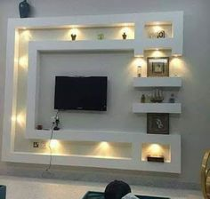 Lcd Wall Design, House Ceiling Design, Ceiling Design Living Room, Bedroom False Ceiling Design, House Design, Living Room Tv Unit Designs, Wall Unit Designs, Living Room Wall Units, Tv Unit Decor