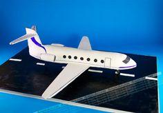 Gulfstream airplane cake!   Aline