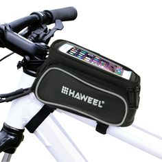 [$7.38] Bicycle Double Frame Touch Screen Phone Bag for iPhone 6 & 6 Plus / iPhone 6s & 6s Plus(Black)