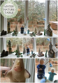 Natural Beach Living: Winter Nature Table  Love the idea to have a nature table or tray!
