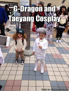 G-Dragon and Taeyang Cosplay cutest thing ever! Meme Center | allkpop