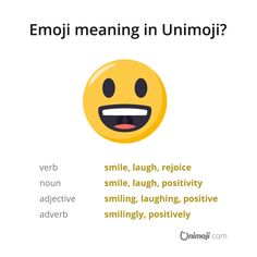 Be all smiles! 😃  www.instagram.com/p/BjIEY0NhvJ1/  #Unimoji #emojilanguage #new #universal #emoji #language #emojimeanings #icon #symbol #picture #graphics #emojimeaning #emojione #smile #smiling #smiles #grin #grinning #positive #positivity #allsmiles #laugh #laughing #laughable #bigeyes #openmouth #grinningface #smilingface #smilingfacewithopenmouth #grinningfacewithbigeyes Big Eyes Emoji, Emoji Language, All Smiles, Smile Face, Laughing, Meant To Be, Positivity, Graphics, Instagram