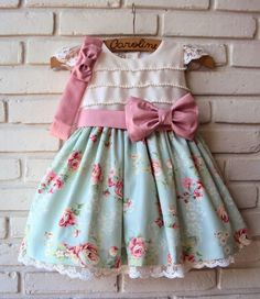 Shabby chic look Toddler Dress, Toddler Outfits, Baby Dress, Toddler Girl, Kids Outfits, Little Dresses, Little Girl Dresses, Cute Dresses, Girls Dresses