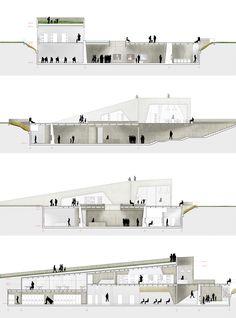 Imagen 10 de 10 de la galería de Conoce el segundo lugar en el concurso del Museo de la Memoria y Derechos Humanos en Concepción, Chile. Fotografía de Equipo Segundo Lugar