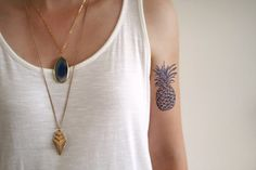 Pineapple design Dutch 'Delfts Blauw' blue temporary by Tattoorary, $6.00