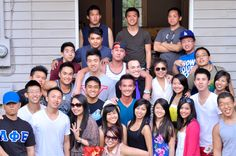 #Kickback barbecue with ChiSigs at the Lambda House.