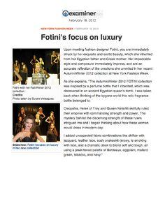 Fotini on the Examiner.
