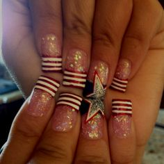 i am in love with these 4th of july nail art!