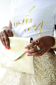 How to wear gold color everywhere & be stylish : Summer Street Style : MartaBarcelonaStyle's Blog